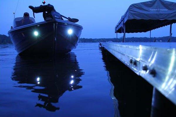 Attwood® 6522SS1 - Stainless Steel Bezel Docking LED Lights