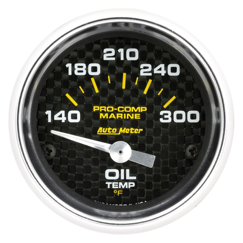 Marine Carbon Fiber 2 1//16, 100Psi, Mechanical, Marine Carbon Fiber AutoMeter 200790-40 Gauge Oil Pressure