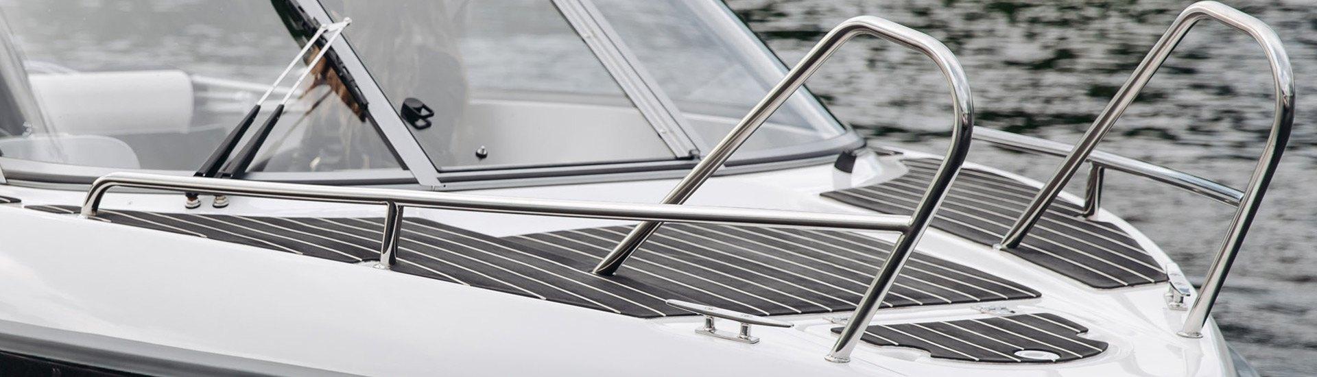 Boat Tubing & Handrails | Grab Handles, Post Caps, Elbows