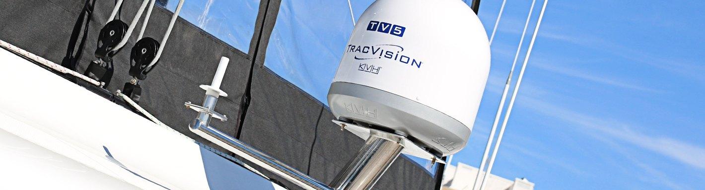 KVH Industries 01-0364-07 TracVision TV5 w//IP-TV Hub Boating Antennas