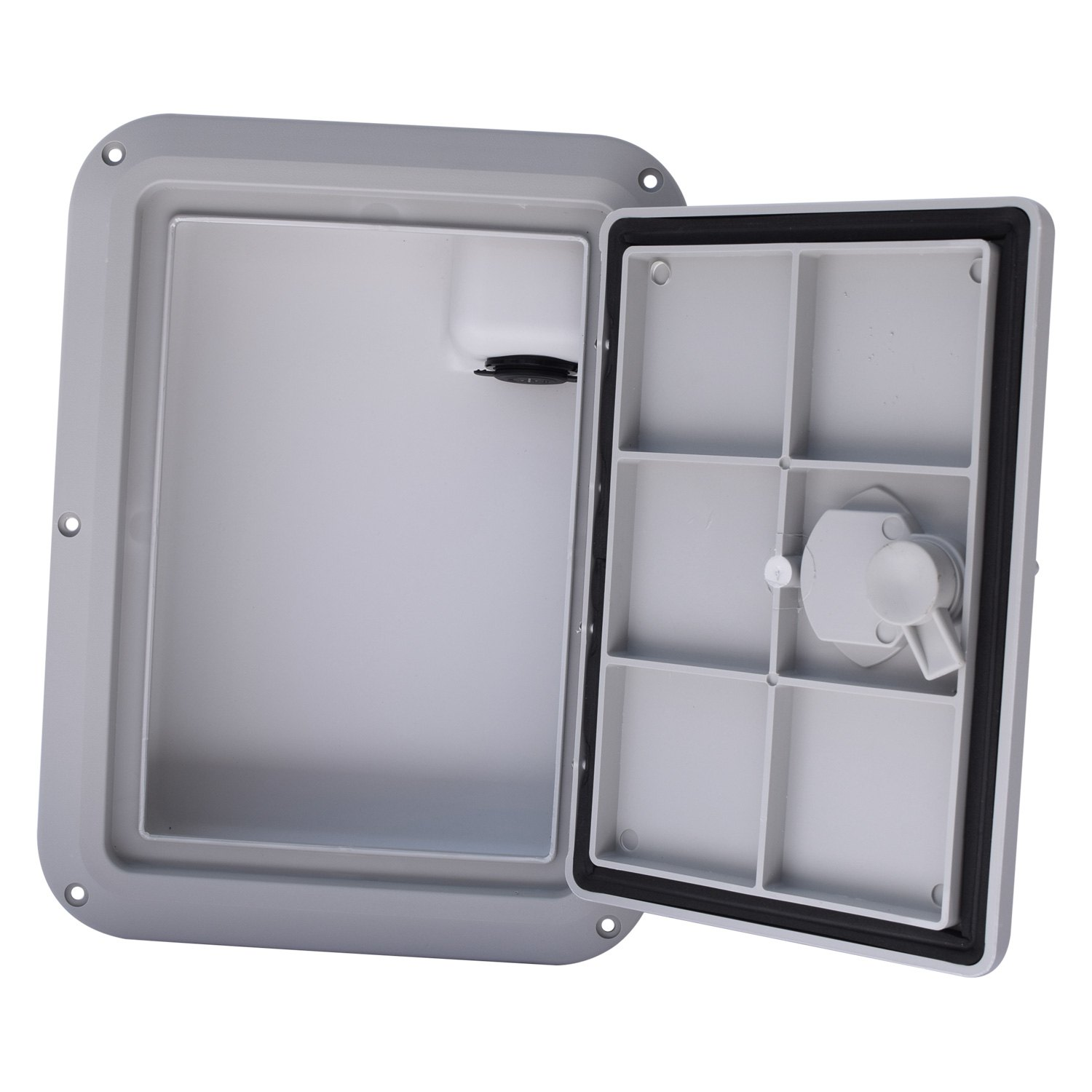 Off White 9 x 12 DPG912MW-USB DPI Marine Glove Box with USB Charging Station in Marine White