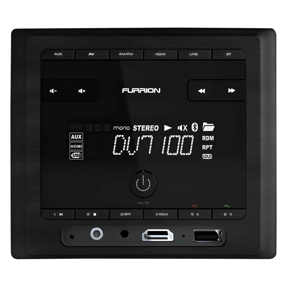 Furrion 174 424732 Dv7100 Series Black Wall Mount Stereo