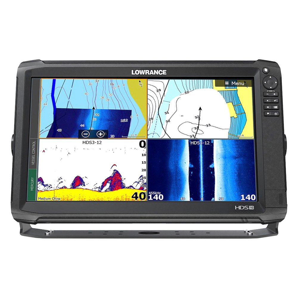 Lowrance® - HDS Carbon Fish Finder/Chartplotter with Basemap