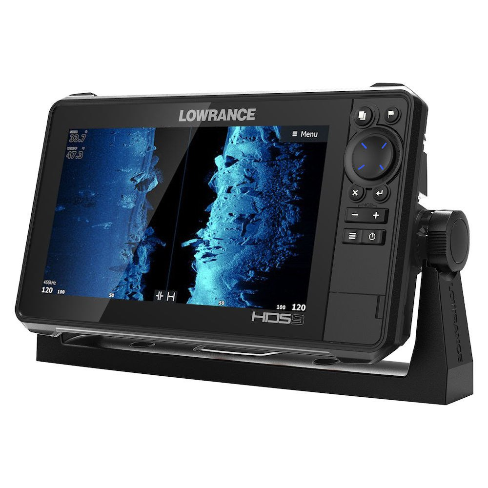 Lowrance Depth Finder >> Lowrance 000 14421 001 Hds Live 9 9 Fish Finder Chartplotter With Basemap W O Transducer