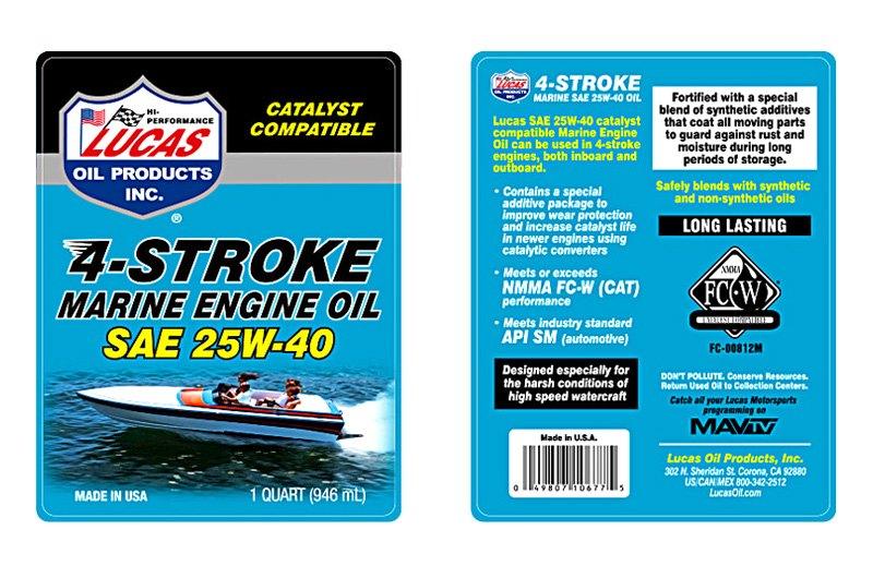 Lucas Oil® 10693 - Stern Drive 5 gal  25W-40 Inboard Engine Oil