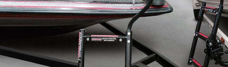 "Quality Mark 28800 29.1/""H 3-Step Port Bow Ladder w Left Handrail"